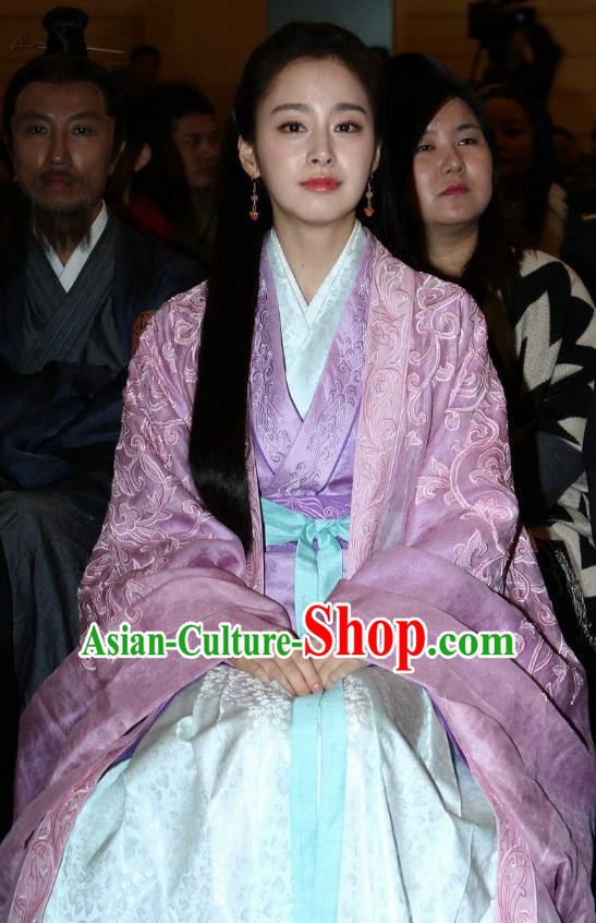 Chinese Ancient Wei and Jin Dynasties Nobility Lady Chi Xuan Wife of Wang Xizhi Replica Costume for Women