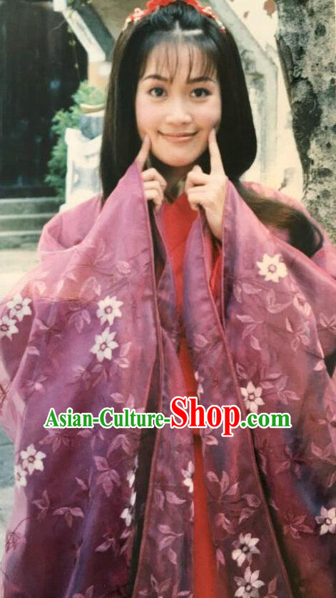 Chinese Ancient Eastern Jin Dynasty Nobility Wealthy Lady Zhu Yingtai Hanfu Dress Replica Costume for Women