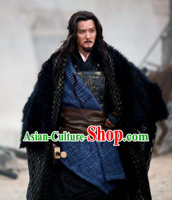 Traditional Chinese Ancient Western Chu Dynasty King Xiang Yu Replica Costume for Men
