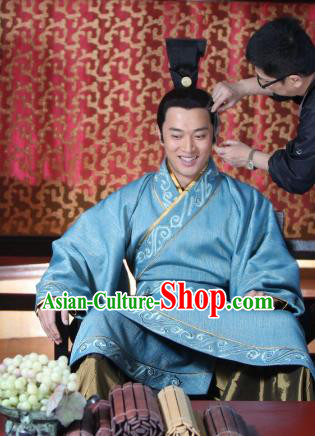 Chinese Ancient Warring States Period Swordsman Prince Replica Costume for Men