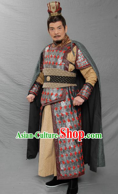 Ancient Chinese Three Kingdoms Period Shu Kingdom King Liu Bei Armour Replica Costume for Men