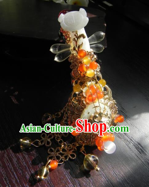Chinese Handmade Ancient Hair Accessories Hair Stick Classical Hanfu Jade Hairpins for Women