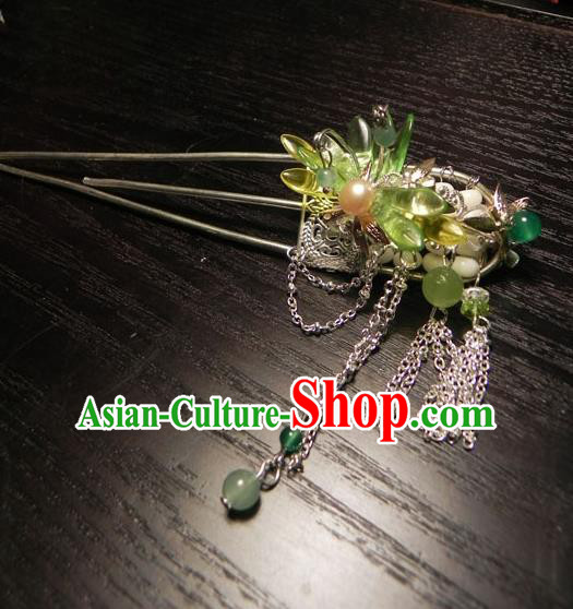 Chinese Handmade Ancient Hair Accessories Tassel Step Shake Classical Hanfu Hairpins for Women