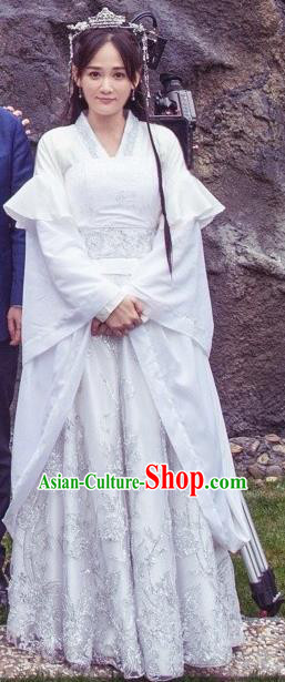 Chinese Ancient Sui Dynasty Imperial Empress Dugu Jialuo Replica Costume for Women