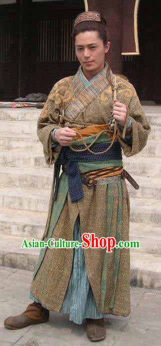 Chinese Ancient Tang Dynasty Swordsman General Li Jing Replica Costume for Men