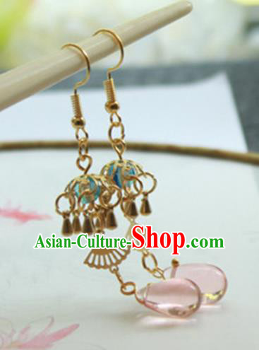 Chinese Handmade Ancient Jewelry Accessories Eardrop Hanfu Earrings for Women