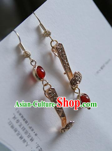 Chinese Handmade Ancient Jewelry Accessories Eardrop Hanfu Classical Earrings for Women