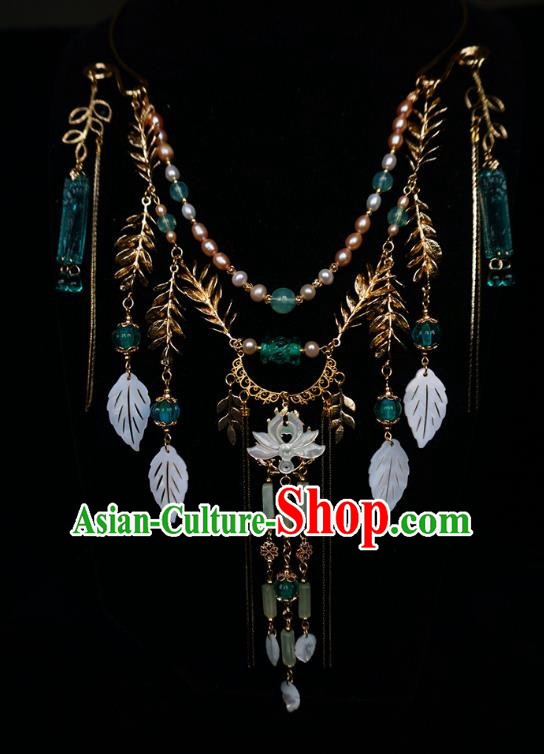 Chinese Handmade Ancient Jewelry Accessories Tassel Necklace Hanfu Necklet for Women