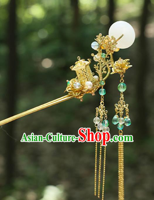 Chinese Ancient Handmade Hanfu Classical Hairpins Palace Lady Step Shake Hair Accessories for Women