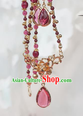 Chinese Handmade Ancient Jewelry Accessories Crystal Necklace Hanfu Necklet for Women