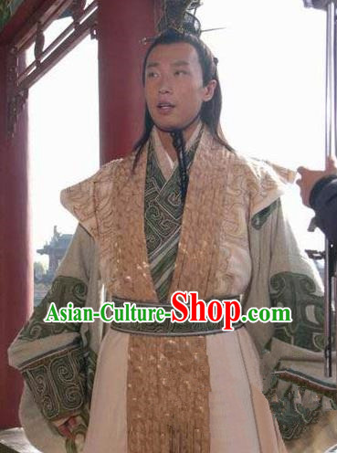 Chinese Ancient Han Dynasty Swordsman Nobility Childe Wang Mang Historical Costume for Men