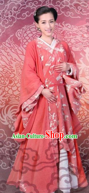 Chinese Ancient Han Dynasty Imperial Empress Xu Pingjun Hanfu Dress Replica Costume for Women