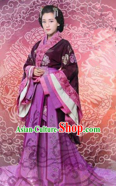 Chinese Ancient Han Dynasty Empress Xu Pingjun Hanfu Dress Replica Costume for Women