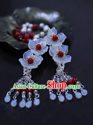 Chinese Ancient Handmade Hanfu Hairpins Palace Lady Flowers Hair Claws Hair Accessories for Women
