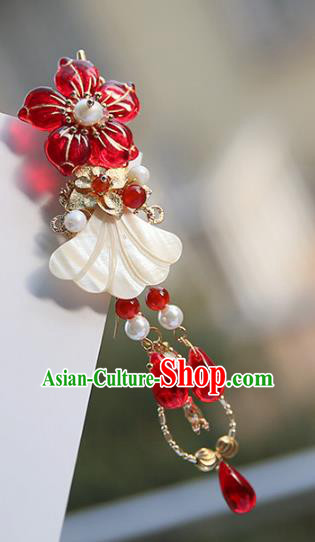Chinese Ancient Handmade Hanfu Hairpins Palace Lady Shell Hair Claws Hair Accessories for Women