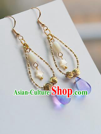 Chinese Handmade Ancient Jewelry Accessories Eardrop Hanfu Bowknot Earrings for Women