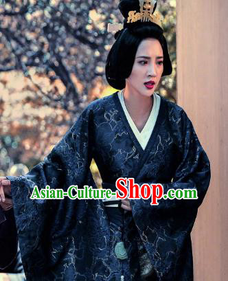Chinese Three Kingdoms Period Wei State Empress Guo Zhao Hanfu Dress Ancient Replica Costume for Women