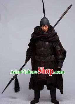 Ancient Chinese Three Kingdoms Period General Military officers Historical Costume for Men