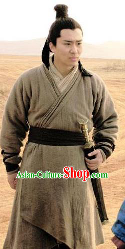 Ancient Chinese Han Dynasty Marquis Shen Yiji Historical Costume for Men