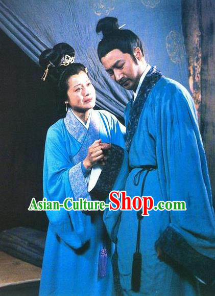Ancient Chinese Han Dynasty Litterateur Zhuo Wenjun and Sima Xiangru Historical Costume Complete Set