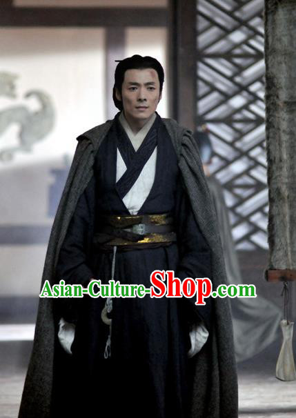 Traditional Chinese Ancient Warring States Period Swordsman Strategist Historical Costume for Men