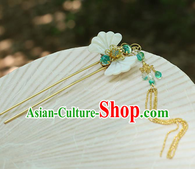 Chinese Ancient Hanfu Handmade Hairpins Shell Butterfly Hair Clips Hair Accessories for Women