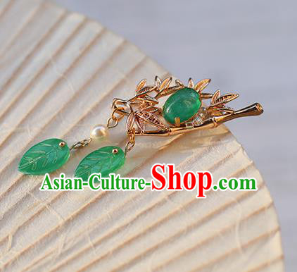 Chinese Ancient Hanfu Handmade Hairpins Golden Hair Claw Hair Accessories for Women