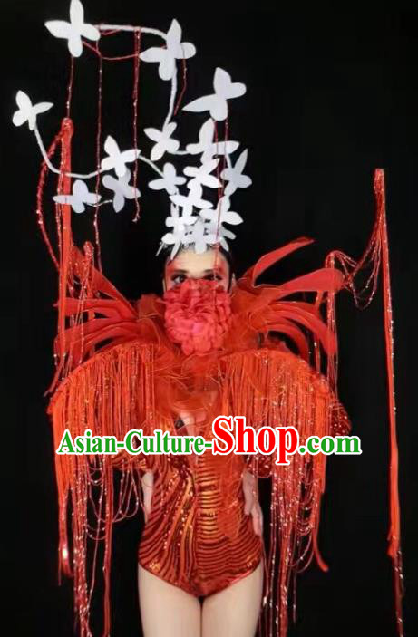 Top Grade Stage Performance Catwalks Costume Halloween Brazilian Carnival Exaggerated Clothing for Women
