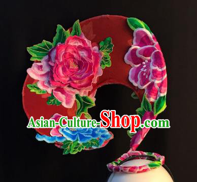 Top Grade China Hair Accessories Ancient Palace Hair Crown Stage Performance Embroidered Headdress for Women
