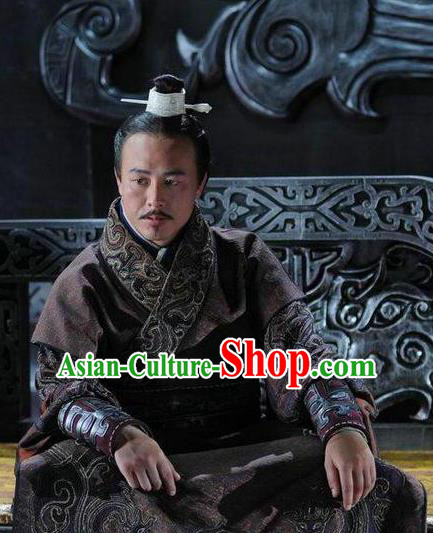Traditional Ancient Chinese Spring and Autumn Period Wu State King Fu Chai Replica Costumes for Men