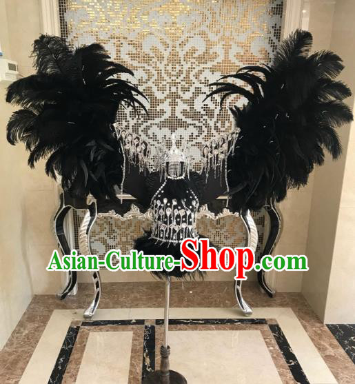 Top Grade Children Stage Performance Costume Catwalks Bikini Dress and Feather Wings for Kids
