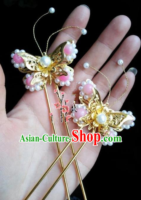 Traditional Chinese Ancient Hair Accessories Butterfly Hairpins Hair Jewellery Headwear for Women