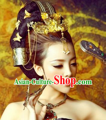 Traditional Chinese Ancient Hair Accessories Hairpins Tassel Phoenix Coronet for Women