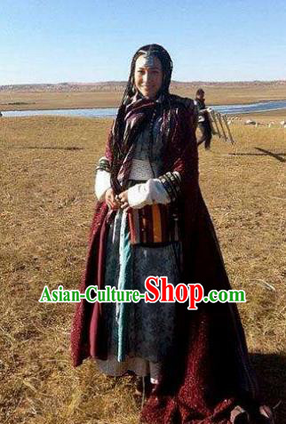 Ancient Chinese Yuan Dynasty Mongol Princess Replica Costume for Women