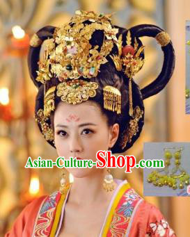 Traditional Chinese Ancient Hair Accessories Hairpins Phoenix Coronet Complete Set for Women