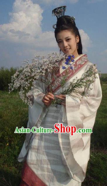 Ancient Chinese Qin Dynasty Palace Lady Dress Replica Costume for Women
