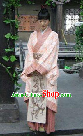 Ancient Chinese Qin Dynasty Palace Princess Ying Ling Dress Replica Costume for Women