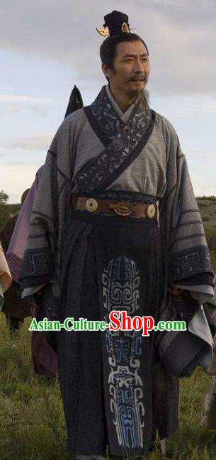 Ancient Chinese Qin Dynasty Statesman and Calligrapher Li Si Replica Costume for Men