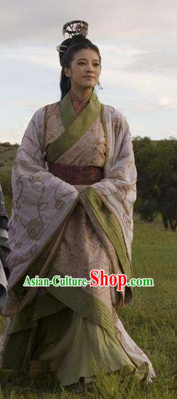 Traditional Ancient Chinese Qin Dynasty Palace Princess Hanfu Replica Costume for Women