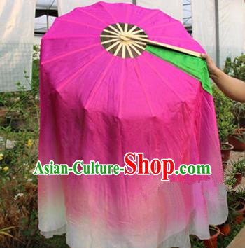 Chinese Handmade Folk Dance Folding Fans Yangko Dance Classical Lotus Dance Round Fan for Women