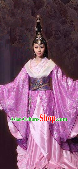 Chinese Ancient Qin Dynasty Imperial Concubine Mei Jiang Hanfu Dress Replica Costume for Women