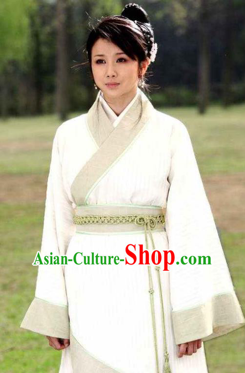 Chinese Ancient Han Dynasty Aristocratic Lady Liu Lanzhi Hanfu Dress Replica Costume for Women
