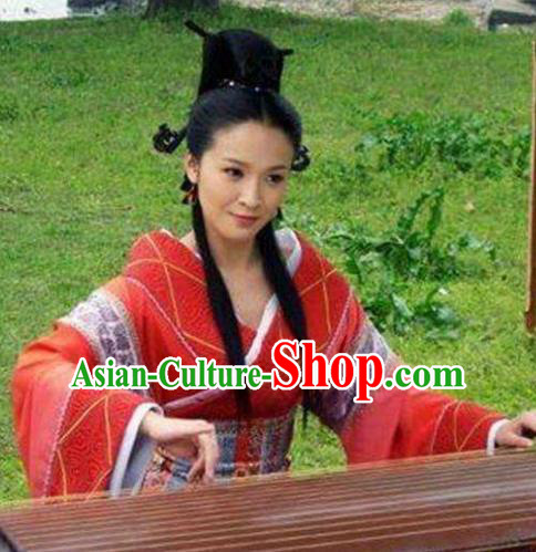 Chinese Ancient Han Dynasty Imperial Consort Ban Hanfu Dress Replica Costume for Women