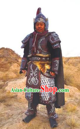 Chinese Ancient Han Dynasty General Military Officer Zhao Xin Replica Costume for Men