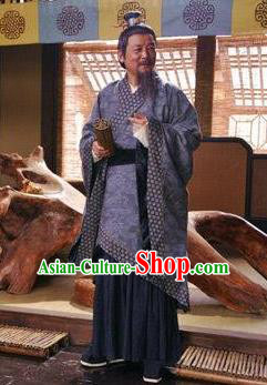 Ancient Chinese Eastern Han Dynasty Medical Scientist Zhang Zhongjing Replica Costume for Men