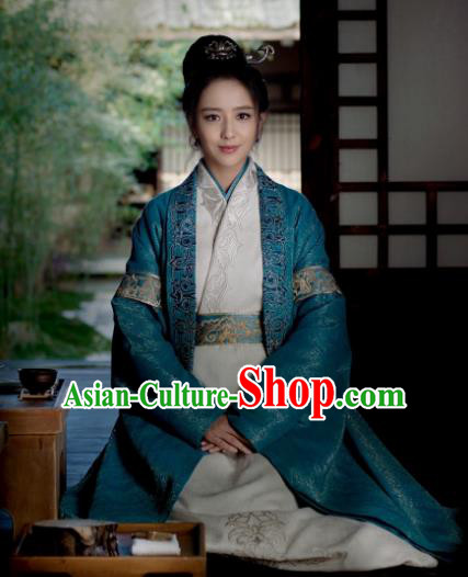 Nirvana in Fire Chinese Ancient Dowager Female General Meng Qianxue Hanfu Dress Replica Costume for Women