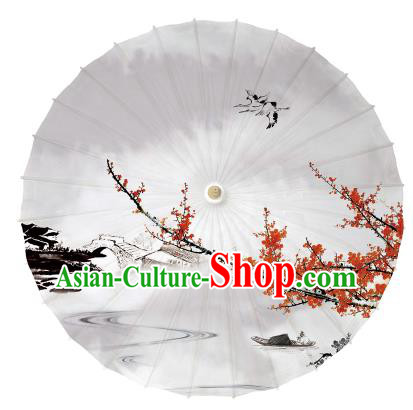 Chinese Handmade Paper Umbrella Folk Dance Printing Oil-paper Umbrella Yangko Umbrella