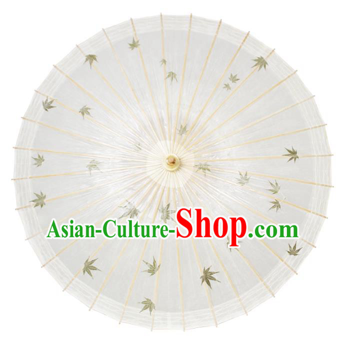 Chinese Traditional Artware Paper Umbrella Classical Dance Printing Maple Leaf Oil-paper Umbrella Handmade Umbrella