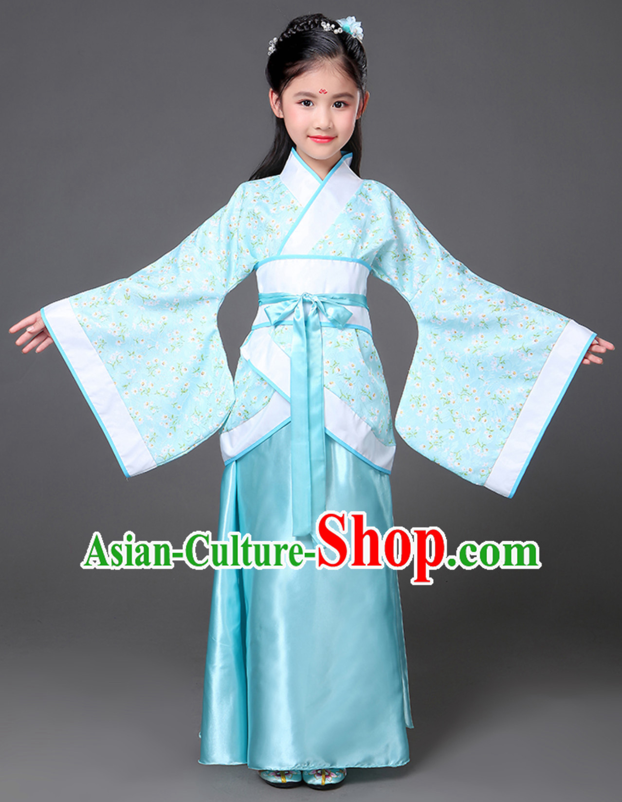 Ancient Chinese National Costume Hanfu Dress Clothing  Complete Set for Women Girls