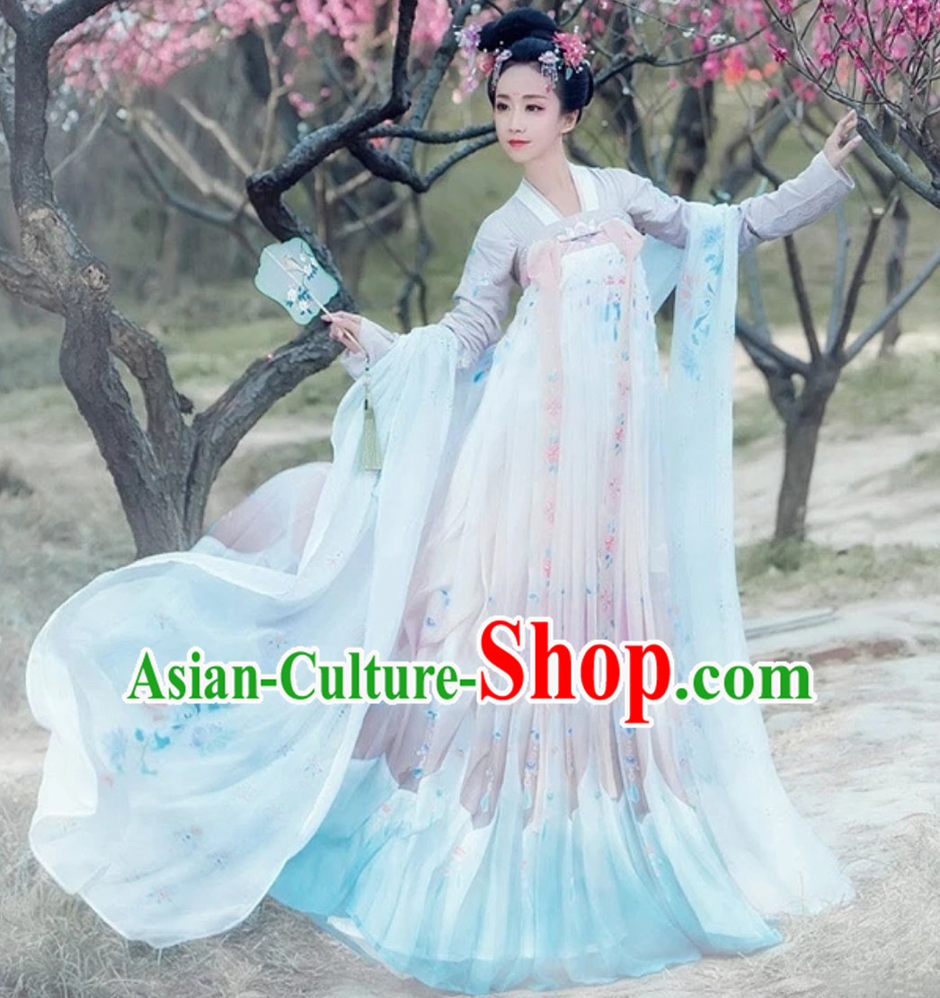 Ancient Chinese Hanfu Dress Clothing  Complete Set for Women Girls